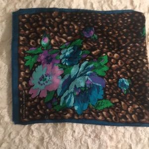 Adrienne Vittadini 100% silk patterned scarf